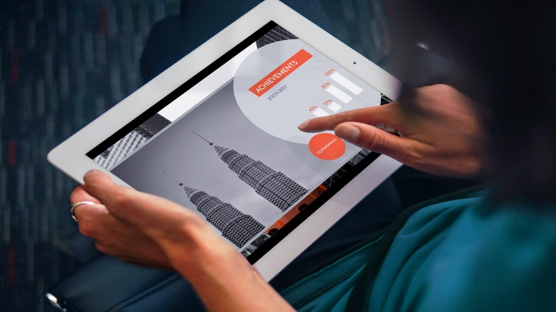 Prezi presentation iPad