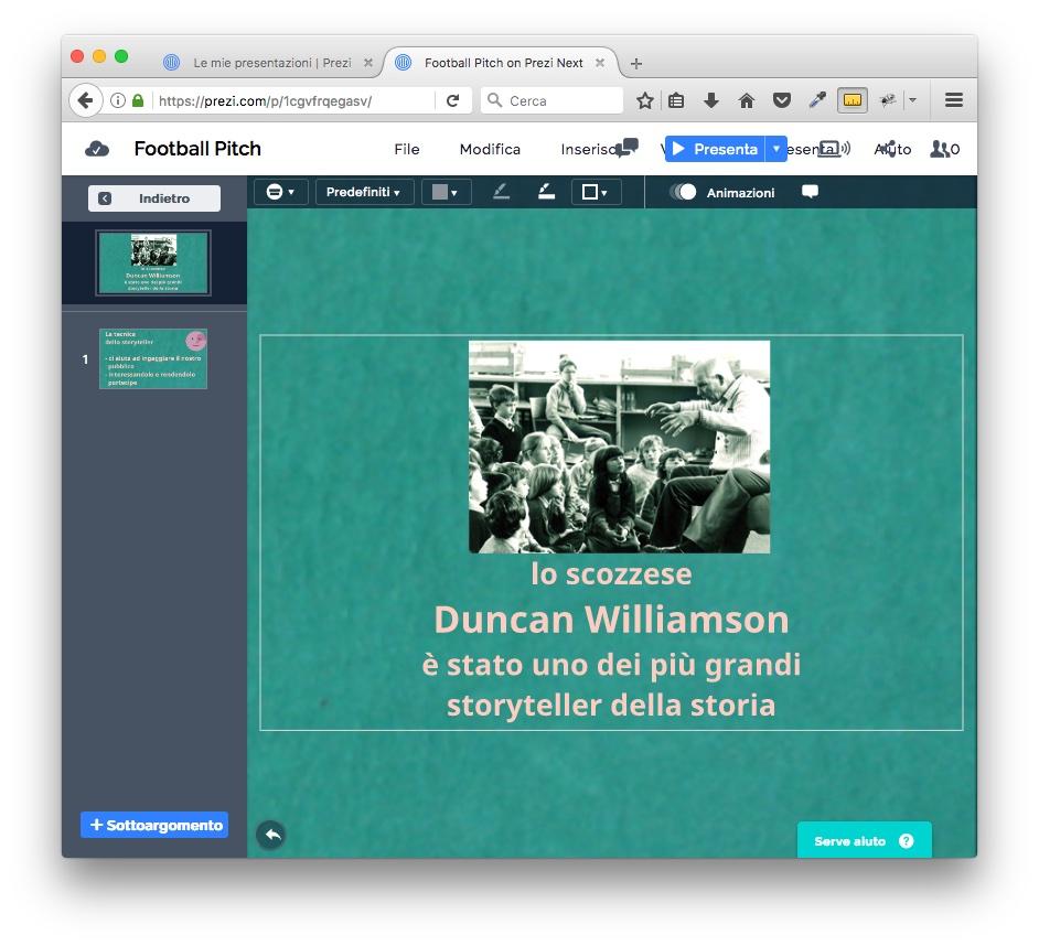 Prezi presentazioni Storytelling