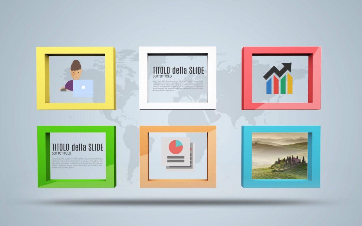 home page presentazione Cornici 3D