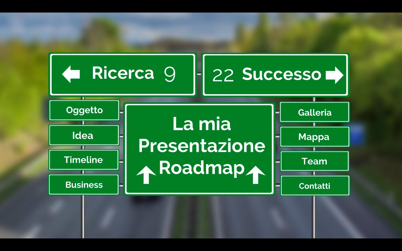 Home page Presentazione Prezi Roadmap