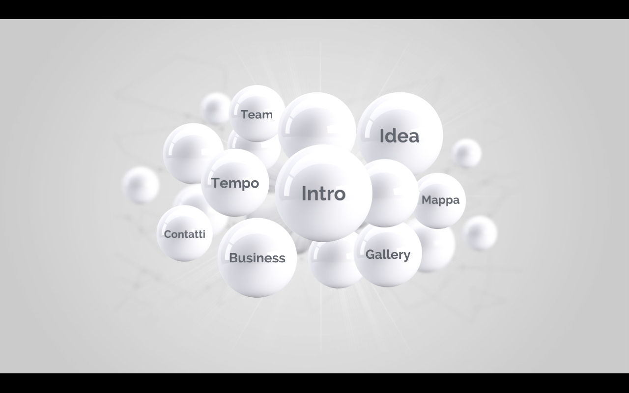 home page presentazione Sfere 3D